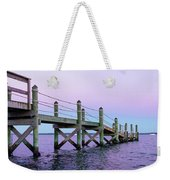 A Quiet Evening At Dusk With A Moonrise Weekender Tote Bag