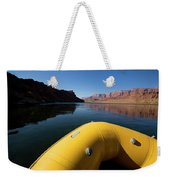 A Raft Floats Down A River Weekender Tote Bag