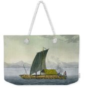 A Raft Leaving The Port Of Guayaquil Weekender Tote Bag