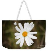 A Rain Spattered Daisy Weekender Tote Bag