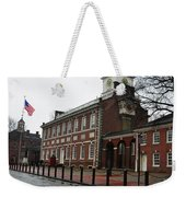 A Rainy Day At Independence Hall Weekender Tote Bag