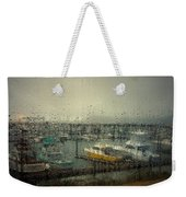 A Rainy Evening On The Port Weekender Tote Bag