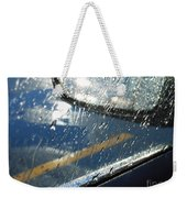 A Rainy Night Reflection Weekender Tote Bag