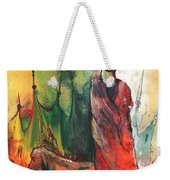 A Red Dog In Morocco Weekender Tote Bag