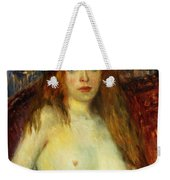 A Red-haired Model Weekender Tote Bag by William James Glackens