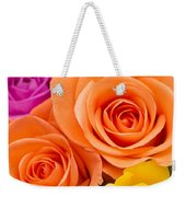 A Riot Of Roses Weekender Tote Bag