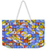 A Riot Of Shapes Weekender Tote Bag