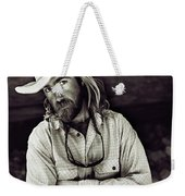 A River Guide Crosses His Arms In Front Weekender Tote Bag
