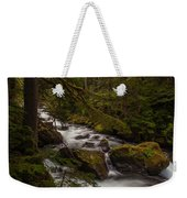 A River Passes Through Weekender Tote Bag by Mike Reid