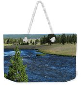 A River Runs Through Yellowstone Weekender Tote Bag
