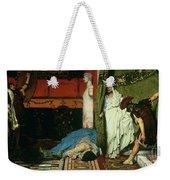 A Roman Emperor   Claudius Weekender Tote Bag by Sir Lawrence Alma Tadema