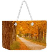 A Romantic Country Walk In The Fall Weekender Tote Bag
