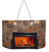 A Room With A Fireplace Weekender Tote Bag