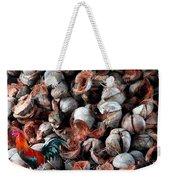 A Rooster And His Coconuts Weekender Tote Bag