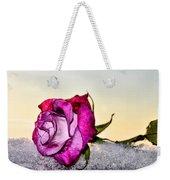 A Rose In Winter Weekender Tote Bag