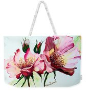 A Rose Is A Rose Weekender Tote Bag by Karin  Dawn Kelshall- Best