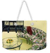 A Round Couch And A Birdcage Weekender Tote Bag