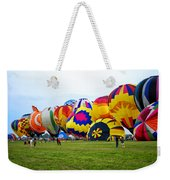 A Row Of Hot Air Balloons Left Side Weekender Tote Bag