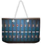 A Row Of Lockers In A School Hallway Weekender Tote Bag