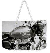 A Royal Enfield Motorbike Weekender Tote Bag