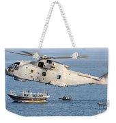 A Royal Navy Merlin Helicopter  Weekender Tote Bag