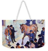 A Sale At Tattersalls, 1911 Weekender Tote Bag by Robert Polhill Bevan
