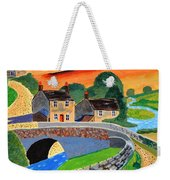 a Scottish highland lane Weekender Tote Bag