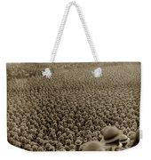 A Sea Of Helmets World War One 1918 Weekender Tote Bag