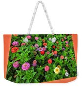 A Sea Of Zinnias 06 Weekender Tote Bag