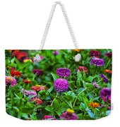 A Sea Of Zinnias 14 Weekender Tote Bag