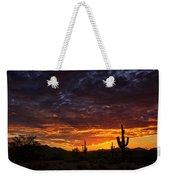 A Sentinel Sunset  Weekender Tote Bag