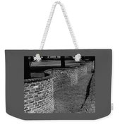 A Serpentine Brick Wall Weekender Tote Bag