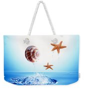 A Shell And Two Starfish Floating Weekender Tote Bag