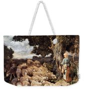 A Shepherdess With Her Flock Near A Stream Weekender Tote Bag