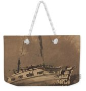 A Ship In Choppy Seas Weekender Tote Bag by Victor Hugo