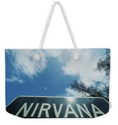 A Sign That Reads Nirvana Weekender Tote Bag