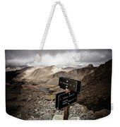 A Signed Trail Junction On The Way Weekender Tote Bag