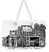 A Simpler Time Line Art Weekender Tote Bag