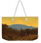 A Sketch Of Hunter Mountain. Catskills. Twilight On Hunter Mountain Weekender Tote Bag