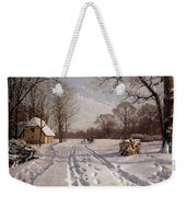 A Sleigh Ride Through A Winter Landscape Weekender Tote Bag