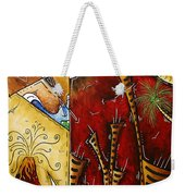 A Slice Of Paradise By Madart Weekender Tote Bag by Megan Duncanson