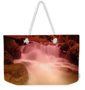 A Small Waterfall Along The Old North Cascade Highway  Weekender Tote Bag