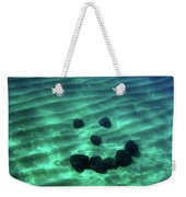A Smiley Face Formed By Large Boulders Weekender Tote Bag