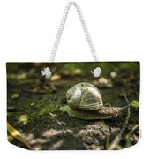 A Snail's Pace Weekender Tote Bag