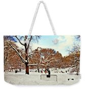 A Snow Day In Central Park Weekender Tote Bag