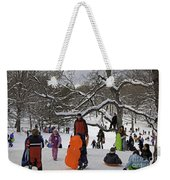 A Snow Day In The Park Weekender Tote Bag