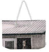 A Snowfall At The Stable Weekender Tote Bag