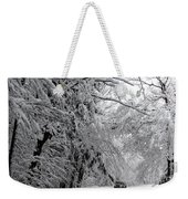 A Snowy Drive Through Chestnut Ridge Park Weekender Tote Bag