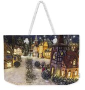 A Snowy Evening Weekender Tote Bag