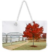 A Soft Autumn Day Weekender Tote Bag